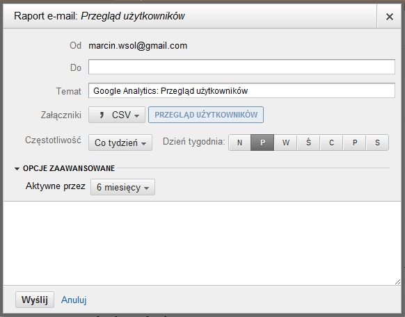 Google Analytics - e-mail