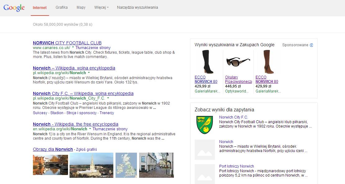 Google AdWords - reklamy produktowe